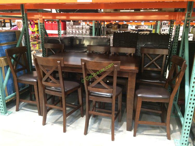 IMAGIO Home Furniture 9PC Counter Height Dining Set