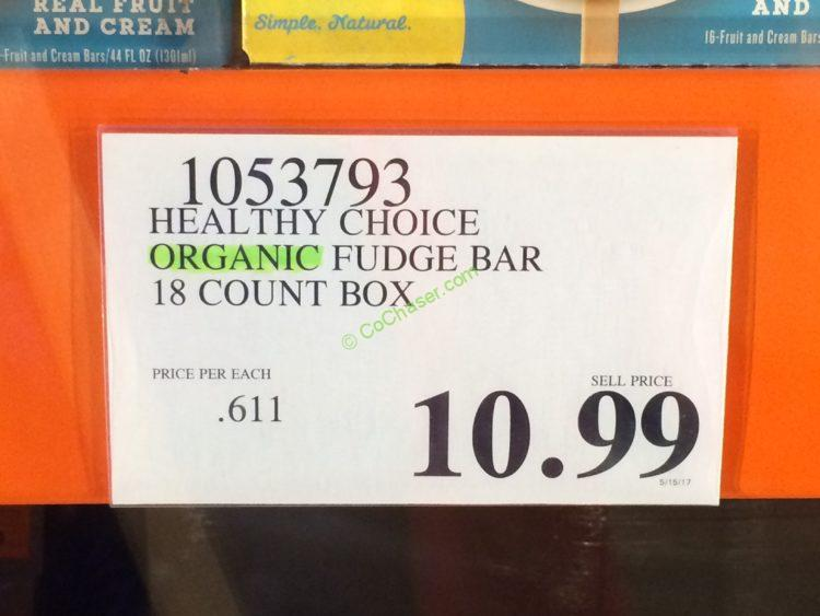 Costco 1053793 Healthy Choice Organic Fudge Bar Tag