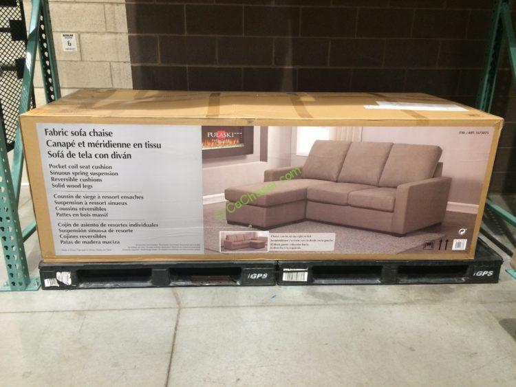 Magnificent Costco 1075075 Pulaski Furniture Fabric Sofa Chaise Box Creativecarmelina Interior Chair Design Creativecarmelinacom