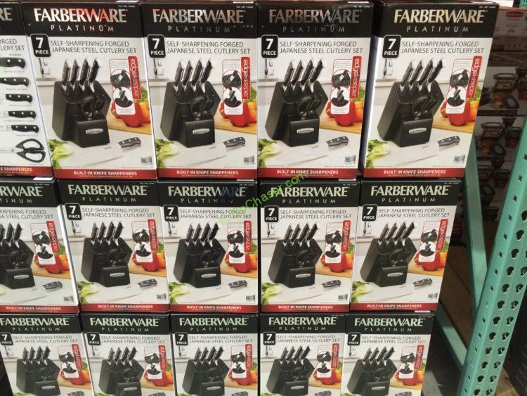 Costco 1134424 Farberware 7pc Self Sharpening Knife Block Set All Costcochaser
