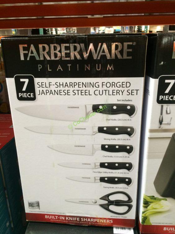 Costco 1134424 Farberware 7pc Self Sharpening Knife Block Set Item Costcochaser