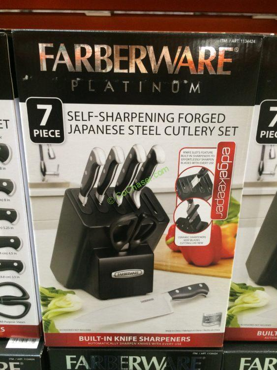 Farberware 7PC Self Sharpening Knife Block Set, Model# 5204467