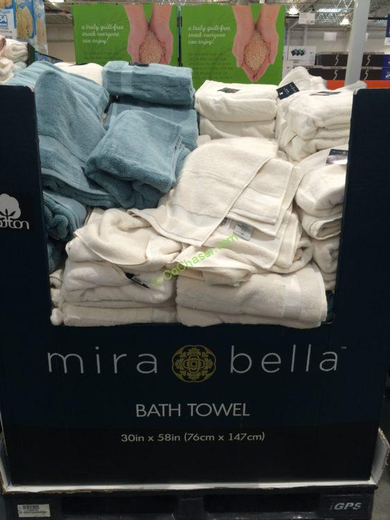 "Mira Bella Bath Towel Assorted Colors 30"" x 58"""
