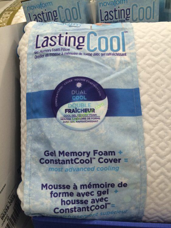Costco 122550 Novaform Lasting Cool Ge Memory Foam Pillow