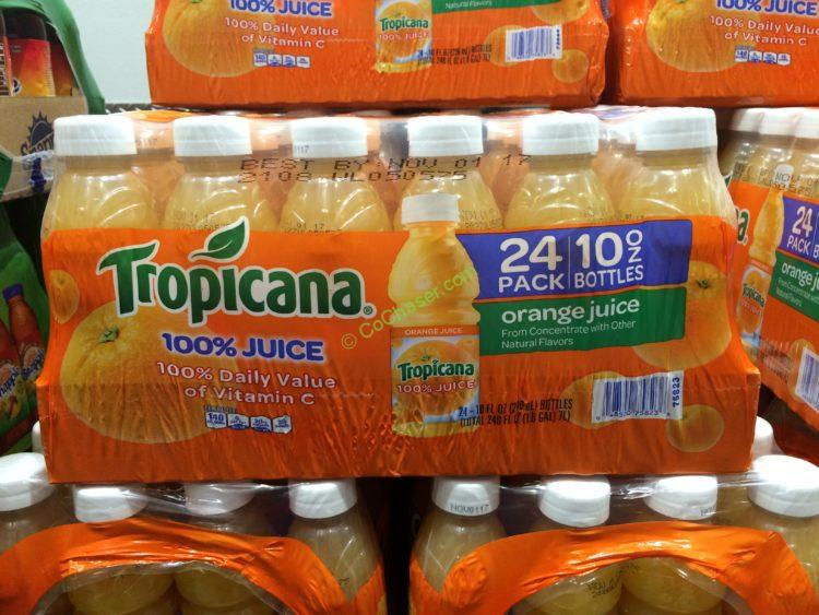 Tropicana 100% Orange Juice 24/10 Ounce Bottles