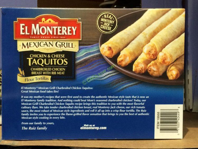 Costco 18668 El Monterey Chicken Taquitos Box Costcochaser