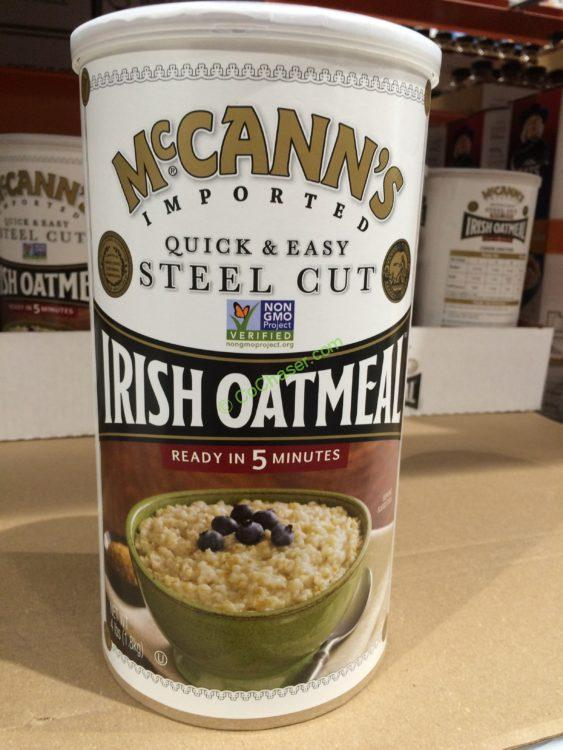 MCCANN's Steel Cut Oatmeal 4 Pound Container