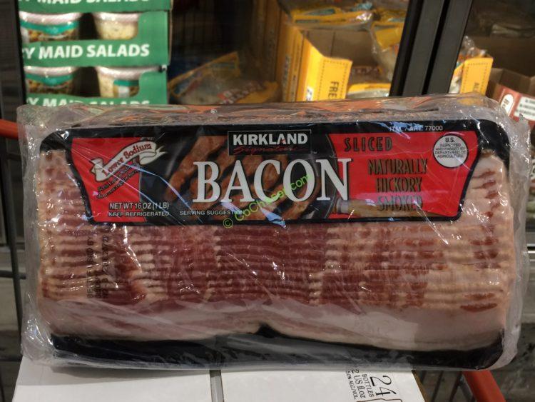 Kirkland Signature Low Salt Sliced Bacon 4/ 1 Pound Packages