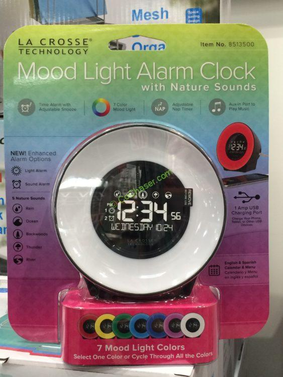 Mood Light Alarm Clock With Nature Sounds Costco