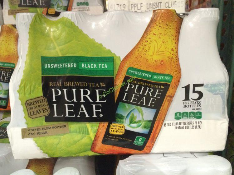 Pure Leaf Unsweetened Black Tea 15/18.5 Ounce Bottles
