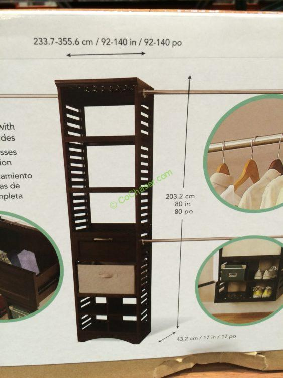 Costco 962840 Whalen Closet Organizer Wood Construction Part3