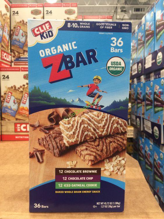 Clif Kid Organic Z Bars 36 Count Box