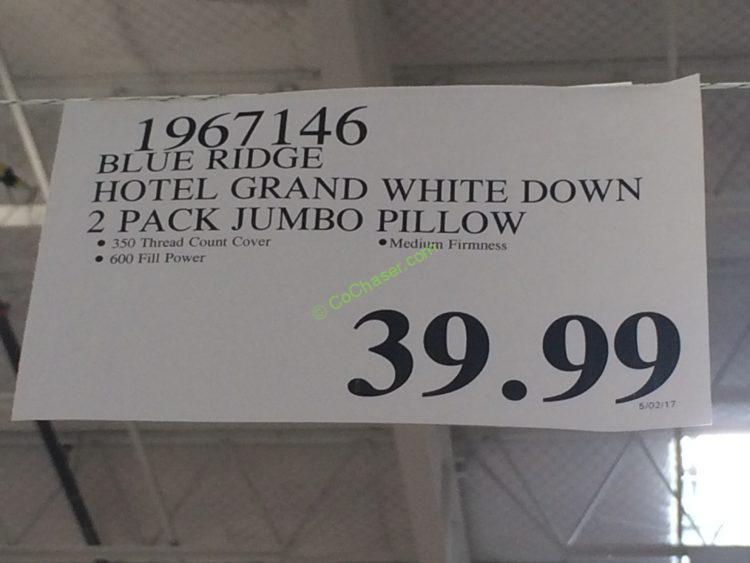 Costco Hotel Grand White Down Pillow