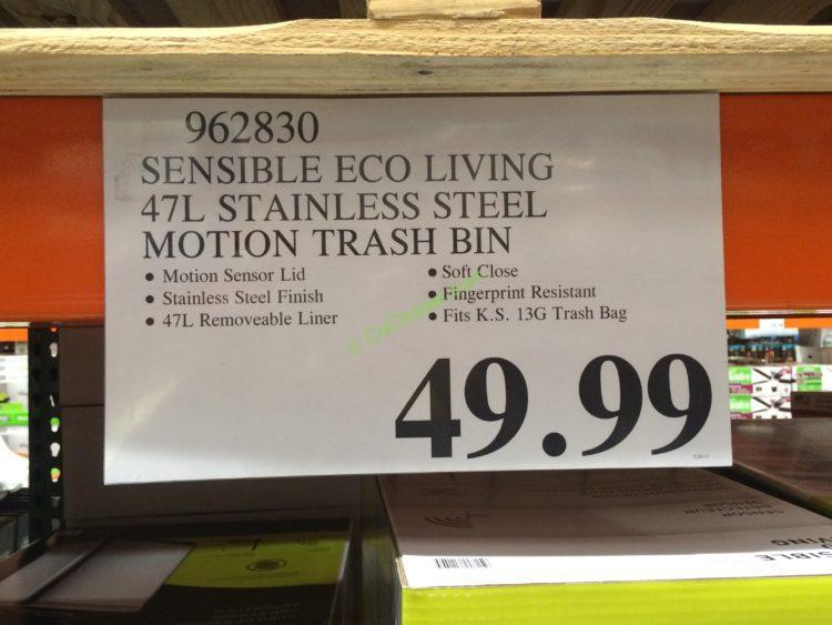 Simplehuman Stainless Steel Rectangular 38 Liter On Trash Can