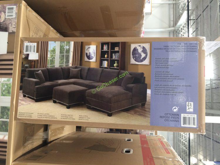 Surprising Bainbridge Fabric Sectional With Ottoman Costcochaser Theyellowbook Wood Chair Design Ideas Theyellowbookinfo