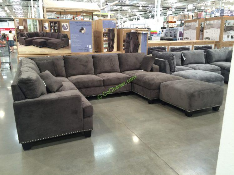 Bainbridge Fabric Sectional With Ottoman Costcochaser
