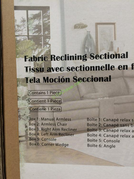 Costco 1041145 Fabric Reclining Sectional Item Costcochaser