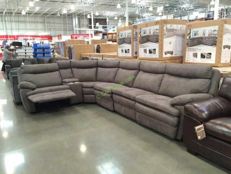 Fabric Reclining Sectional Costcochaser