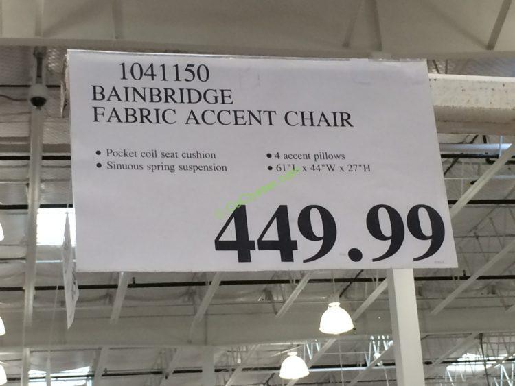 Bainbridge Fabric Accent Chair Costcochaser