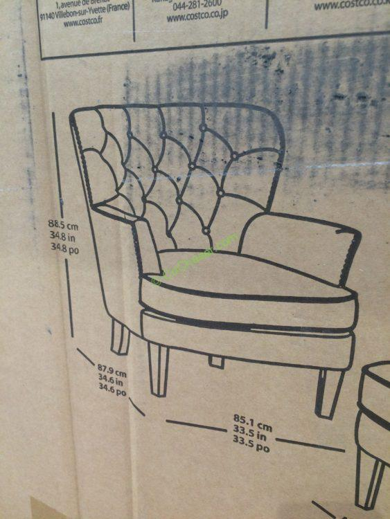 Pulaski Furniture Fabric Accent Chair With Ottoman