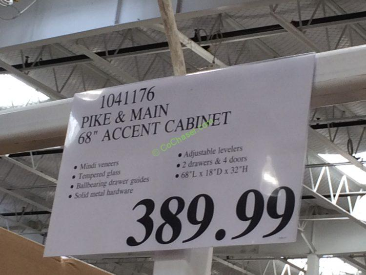 Costco 1041176 Pike And Main 68 Accent Cabinet Tag