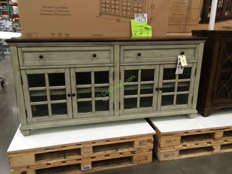 "Green Entertainment Center Costco: Pike And Main 68"" Accent Cabinet"