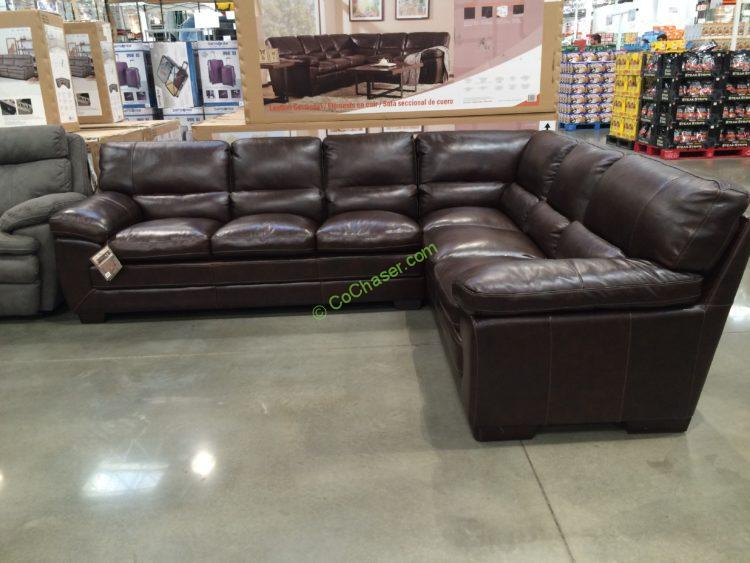 Costco 1041462 Simon Li Leather Sectional