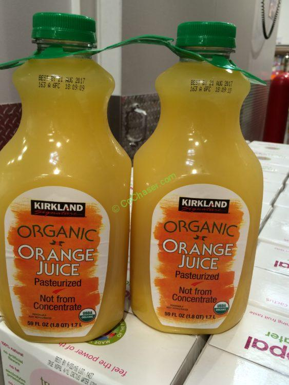 Kirkland Signature Organic Orange Juice 2/59 Ounce Bottles