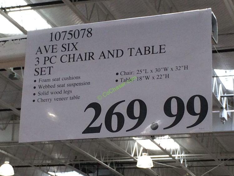 Costco-1075078-AVE-SIX-3PC-Chair-and-Table-Set-tag