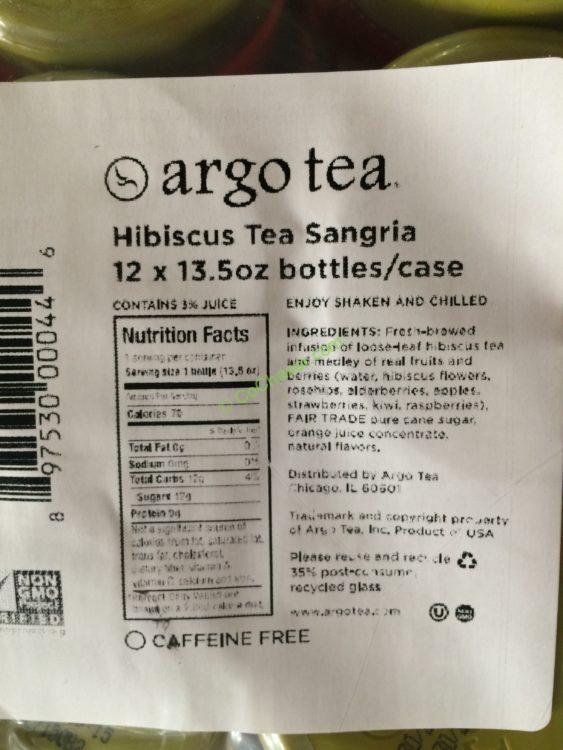 Argo Tea Hibiscus Sangria 12/13.5 Ounce