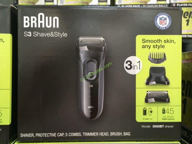Braun Series 3 3-in-1 Electric Shaver Model#3000BT