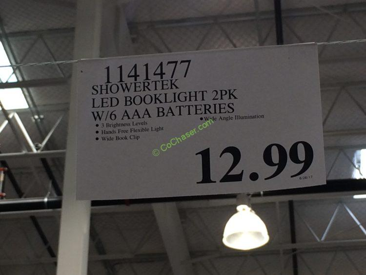 Costco-1141477- Showertek-LED-Booklight-2PK-tag