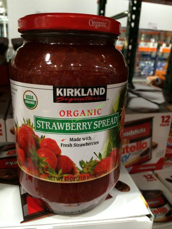 Kirkland Signature Organic Strawberry Spread 42 Ounce Jar