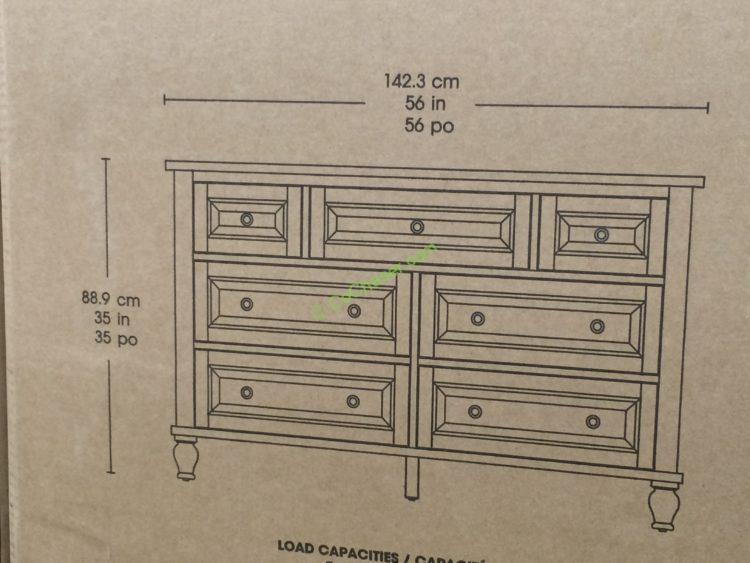 Costco 4560013 Bayside Furnishings Dresser Size Costcochaser