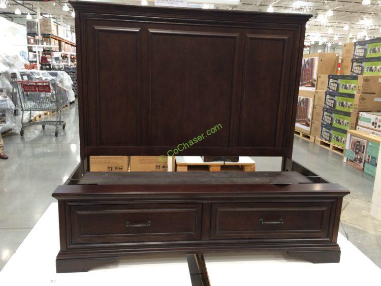 Universal broadmoore storage bed queen or king costcochaser - Universal broadmoore bedroom furniture ...