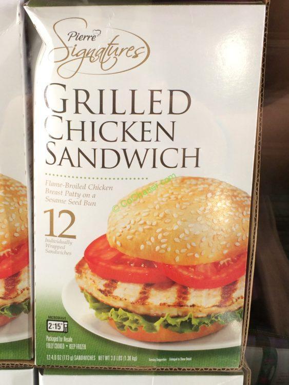 Pierre Foods Grilled Chicken Sandwich 12 Count