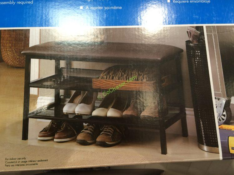 Costco 708651 Organize It All Metal Shoe Rack With Cushion Use1