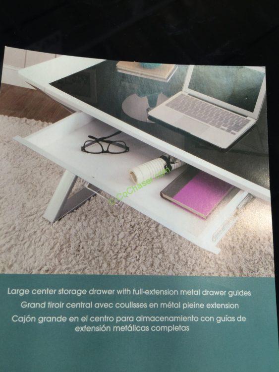 Costco 722459 Bayside Furnishings White Wood Desk Spec1