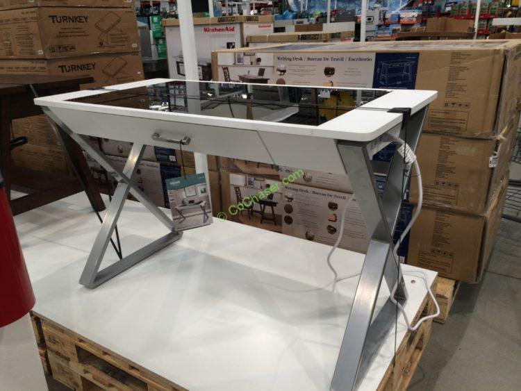 Costco Writing Desk White Ayresmarcus