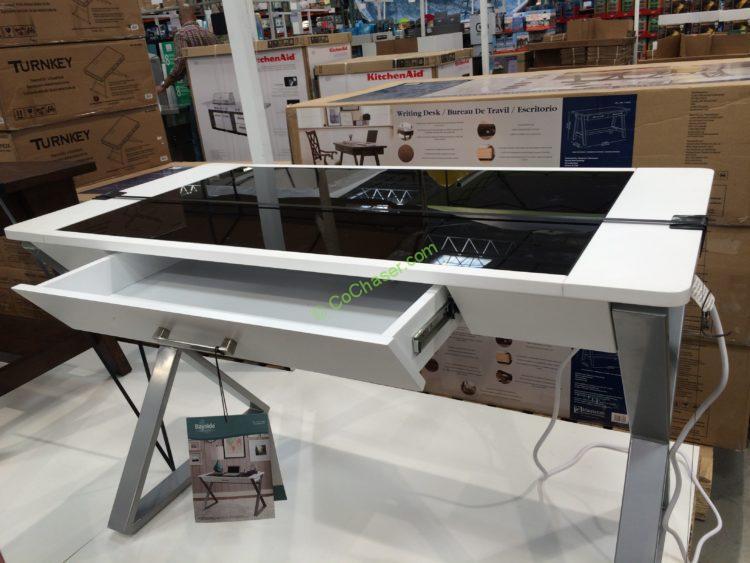 Costco 722459 Bayside Furnishings White Wood Desk1