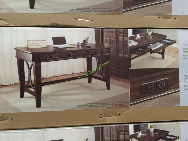 Costco 731466 Bayside Furnishings 60 Writing Desk Pic