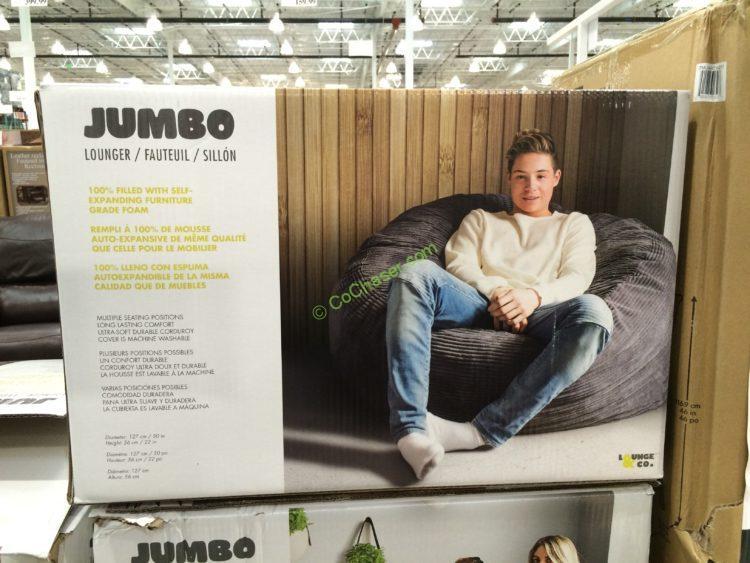 Costco 733315 Lounge Co Jumbo Lounger Foam Chair Box