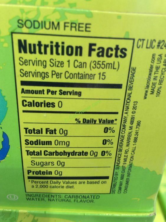 Lacroix Lime Sparkling Water 30 12 Ounce Cans Costcochaser