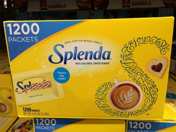 Splenda No Calorie Sweetener 1200 Count Box