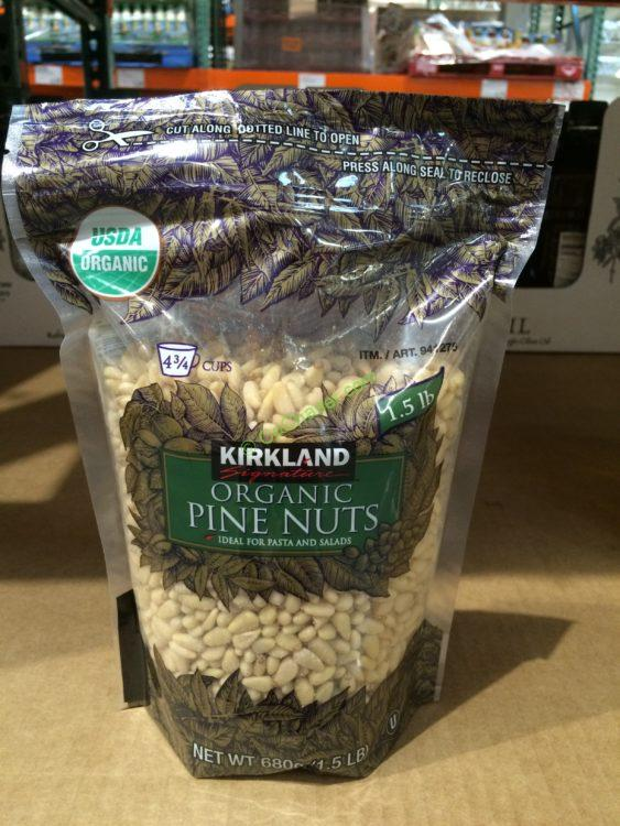 Kirkland Signature Organic Pine Nuts 1.5 Pound Bag