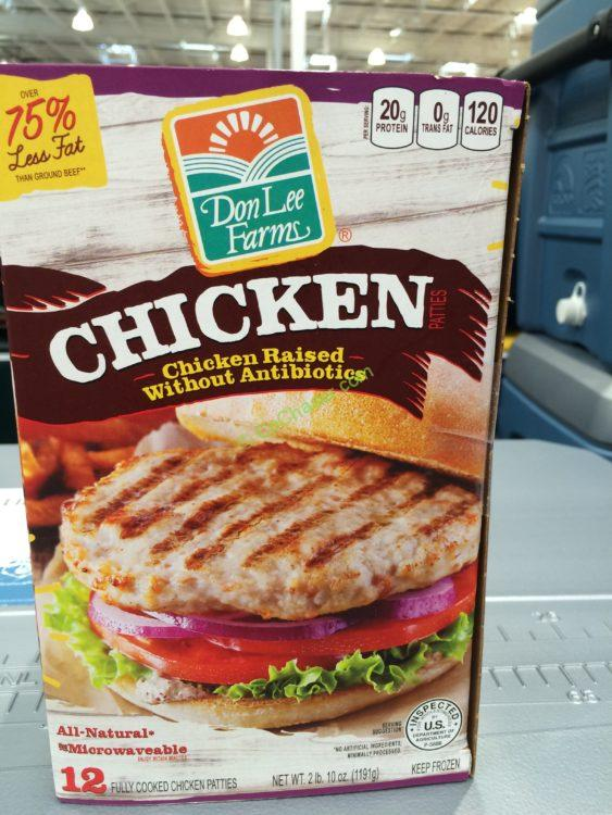 Costco 988973 Don Lee Farms Grilled Chicken Patty