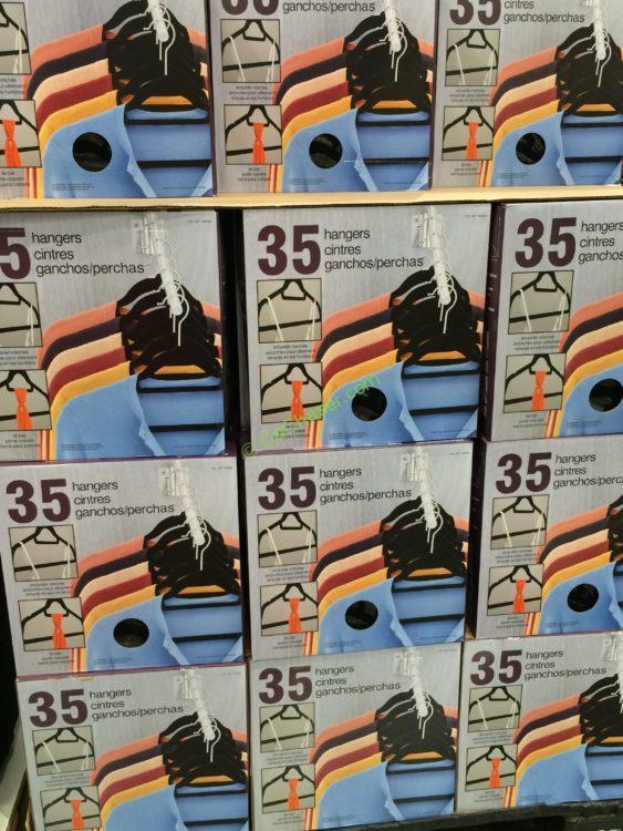Flocked Non Slip Hangers 35 Pack 1 8 Wide Costcochaser