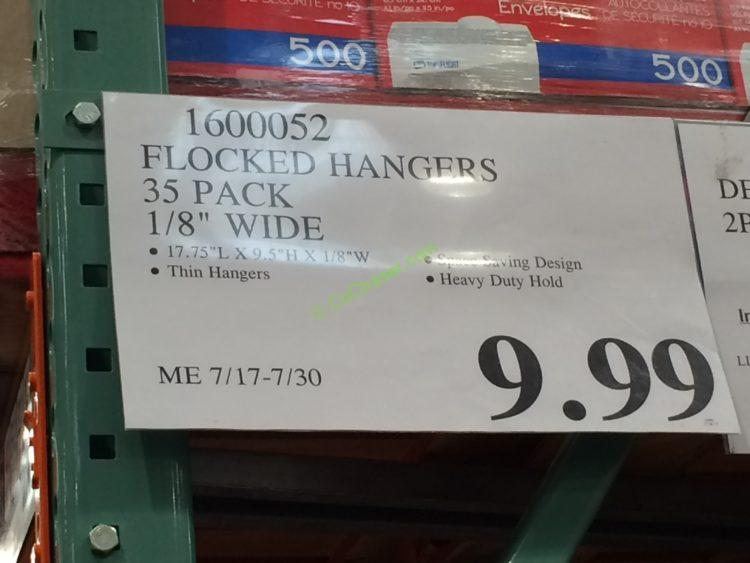 Costco 1600052 Flocked Hangers 35pack Tag