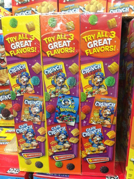Costco 1027573 Cap N Crunch Cereal Variety Pack Box