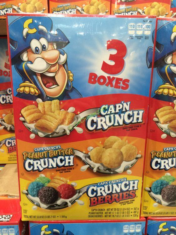 Cap'N Crunch Cereal Variety Pack 55.8 Ounce Box